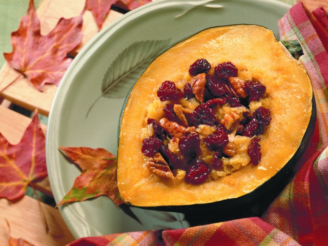 Acorn Squash and Dried Cherry Bake