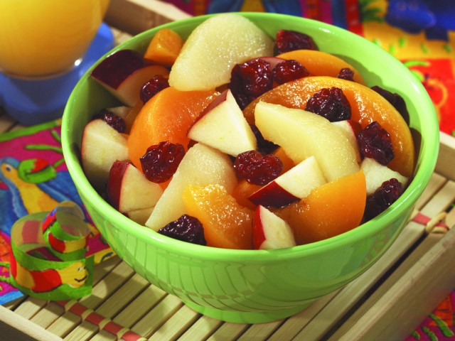 Frozen Fruit and Cherry Salad