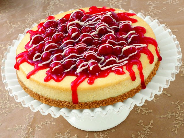 Ribbon of Cherry Cheesecake